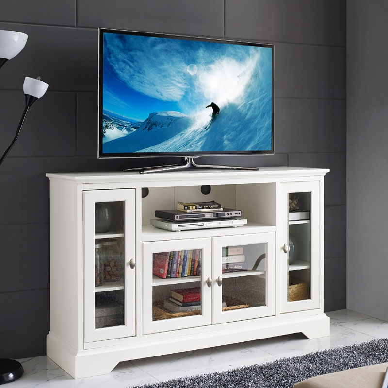 Awesome Preferred TV Stands For 55 Inch TV With Regard To Walker Edison 55 Inch Highboy Tv Cabinet White W52c32wh (Image 7 of 50)
