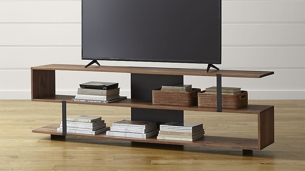 Awesome Preferred TV Stands With Baskets With Austin 78 Media Console Crate And Barrel (Image 7 of 50)