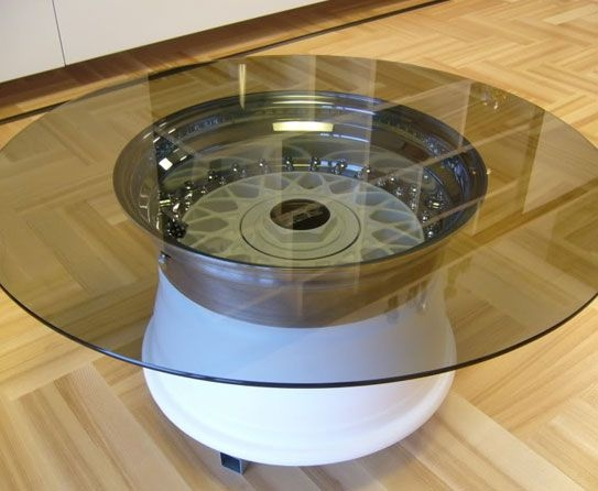 Awesome Preferred Wheels Coffee Tables Throughout 17 Best Wheel Table Images On Pinterest Car Furniture Coffee (View 33 of 50)