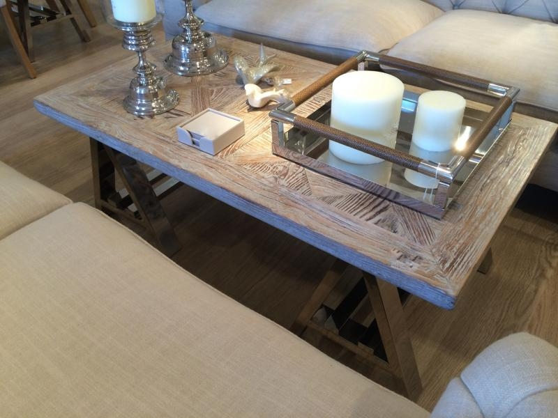 Awesome Preferred Wood Chrome Coffee Tables With Contemporary Recycled Wood Elm Chrome Coffee Table Mulberry Moon (Image 9 of 40)
