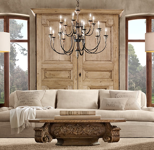 Awesome Premium Baroque Coffee Tables With Regard To Restoration Hardware Revisited I May Surprise You Bossy Color (Image 6 of 50)