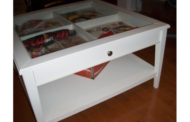 Awesome Premium Coffee Tables With Glass Top Display Drawer With Regard To Ikea Coffee Table Glass Top Roselawnlutheran (Image 6 of 40)