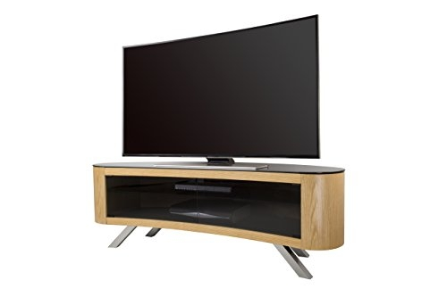 Awesome Premium Curve TV Stands Pertaining To Avf Bay Curved Tv Stand In Oak Amazoncouk Electronics (View 20 of 50)