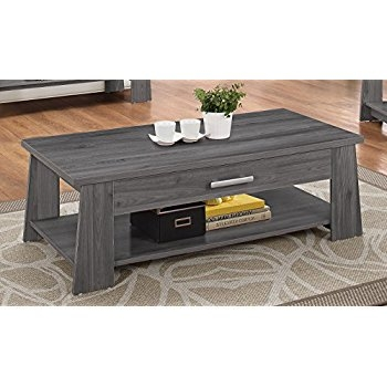 Awesome Premium Dark Coffee Tables Throughout Amazon Acme Furniture 83280 Falan Coffee Table Dark Gray (Image 8 of 50)
