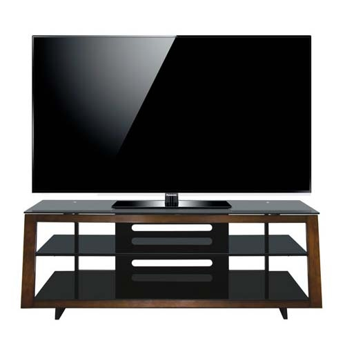 Awesome Premium Expresso TV Stands Pertaining To Bello Modern Wood And Tinted Glass 65 Inch Tv Stand Medium (Image 8 of 50)