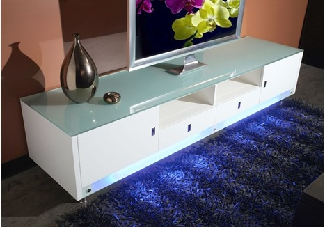 Awesome Premium Modern White Gloss TV Stands Within Contemporary White High Gloss Tv Stand (Image 8 of 50)
