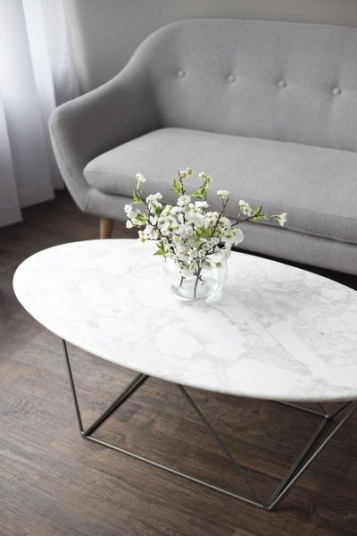 Awesome Premium Oblong Coffee Tables With Regard To Coffee Table Stunning Oval Marble Coffee Table In Your Room (Image 8 of 40)