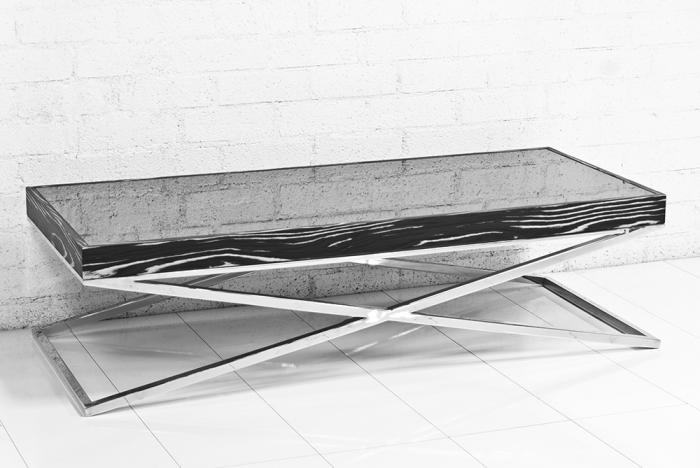 Awesome Premium Rectangle Glass Chrome Coffee Tables Pertaining To Wwwroomservicestore Black And White Macassar And Glass (Image 5 of 50)