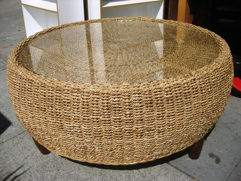 Awesome Premium Round Woven Coffee Tables With Elegant Seagrass Coffee Table For Living Room Made With Round (Image 7 of 50)