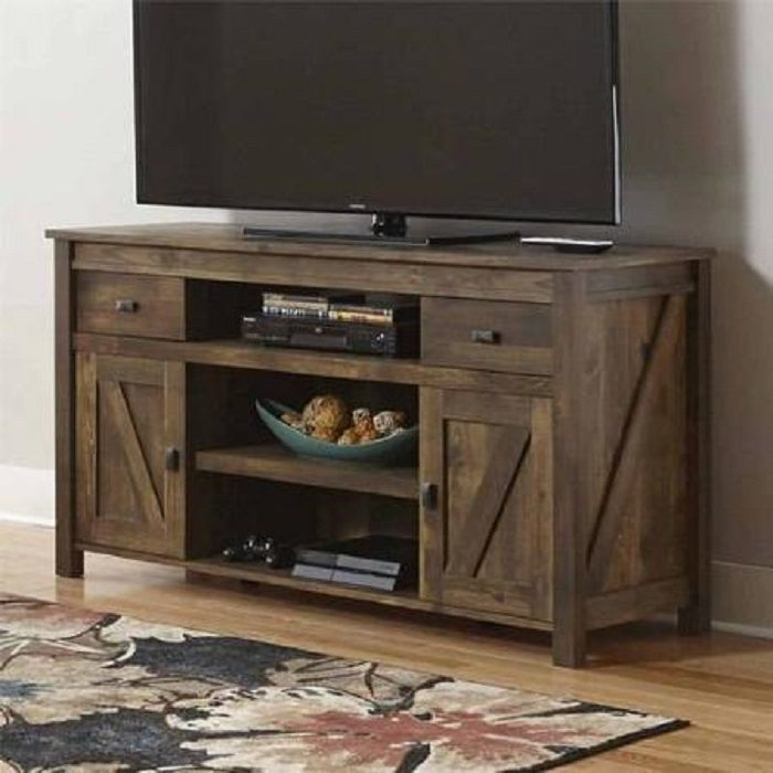 Awesome Premium Rustic TV Stands In Rustic Tv Stand Console Up To 60 Barn Wood Farmhouse Home (Image 6 of 50)