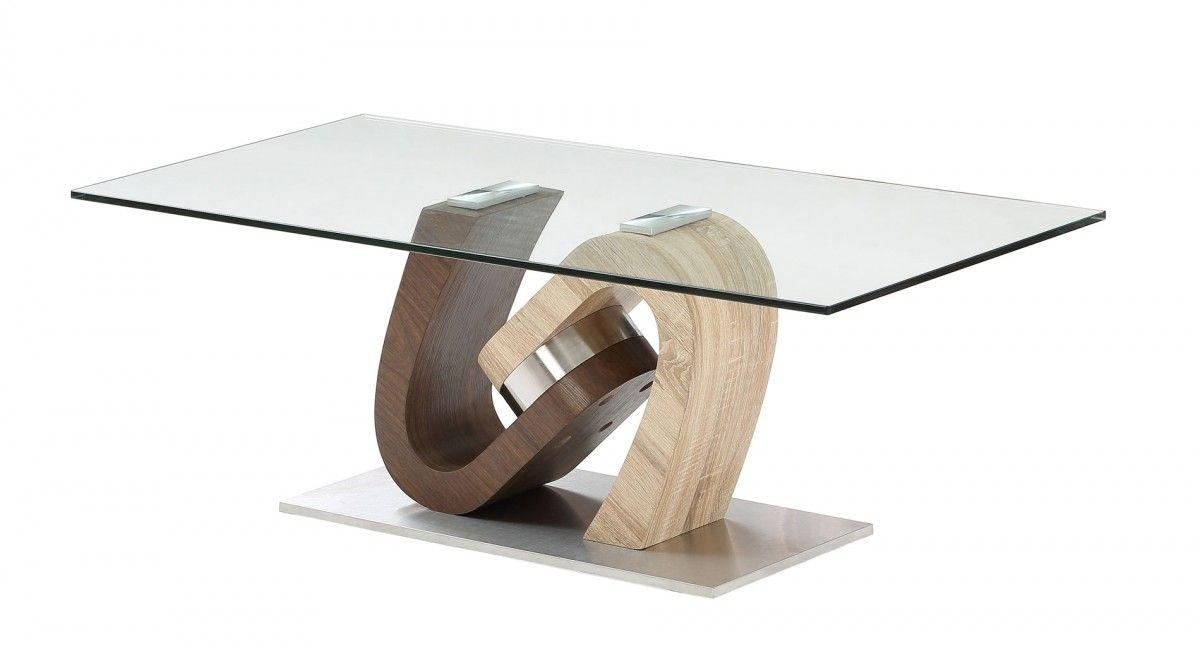 Awesome Premium Torino Coffee Tables Throughout Exclusive Torino Range In Walnut And Oak Effect Glass Coffee Table (Image 5 of 40)