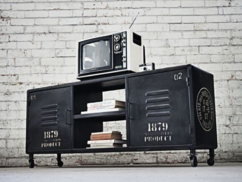 Awesome Premium Vintage Style TV Cabinets Regarding Best 20 Industrial Tv Stand Ideas On Pinterest Industrial Media (Image 6 of 50)