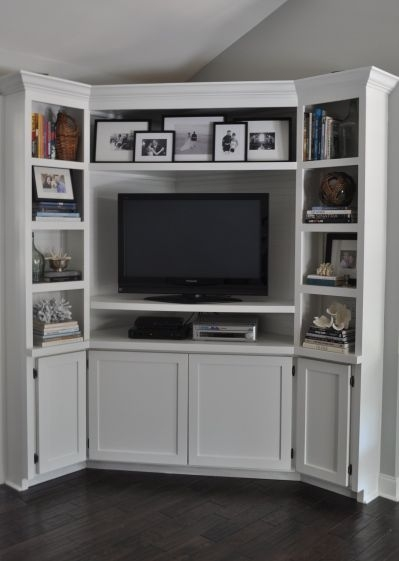 Awesome Premium White Corner TV Cabinets Regarding 25 Best Corner Tv Ideas On Pinterest Corner Tv Cabinets Corner (Image 11 of 50)