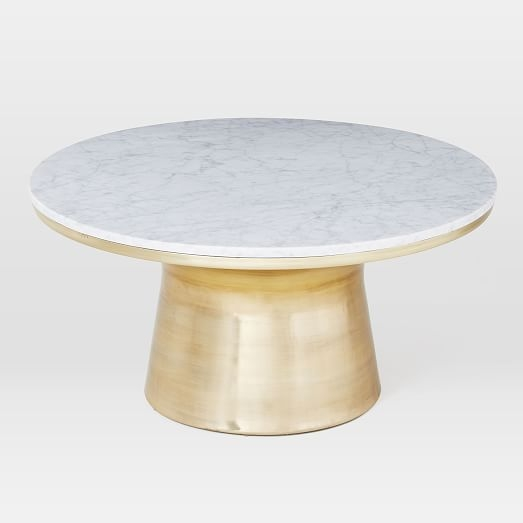 Awesome Premium White Marble Coffee Tables Intended For Marble Topped Pedestal Coffee Table White Marbleantique Brass (Image 7 of 50)