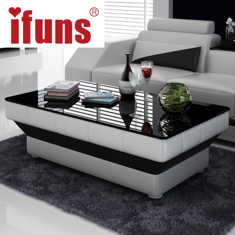 Awesome Premium White Wood And Glass Coffee Tables Inside Compare Prices On Modern Wood Glass Coffee Table Online Shopping (Image 7 of 40)