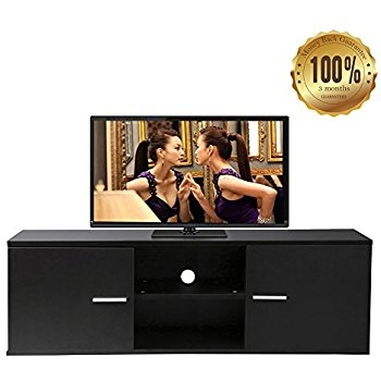 Awesome Series Of Beam Thru TV Stands With Regard To Cubic 1000 Gloss Black Beam Thru Upto 50 Flat Screen Tv Cabinet (Image 5 of 50)