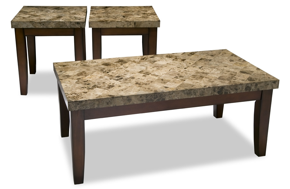 Awesome Series Of Coffee Table With Matching End Tables In Montibello Coffee Table Set Bobs Discount Furniture (Image 9 of 50)