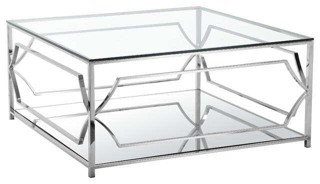 Awesome Series Of Coffee Tables With Chrome Legs Inside Square Glass Chrome Coffee Table (Image 7 of 50)
