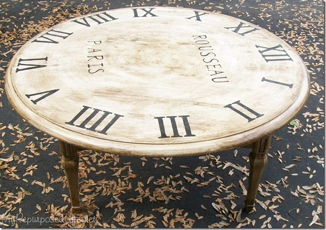 Awesome Series Of Coffee Tables With Clock Top Throughout Faux Clock Table (Image 8 of 40)