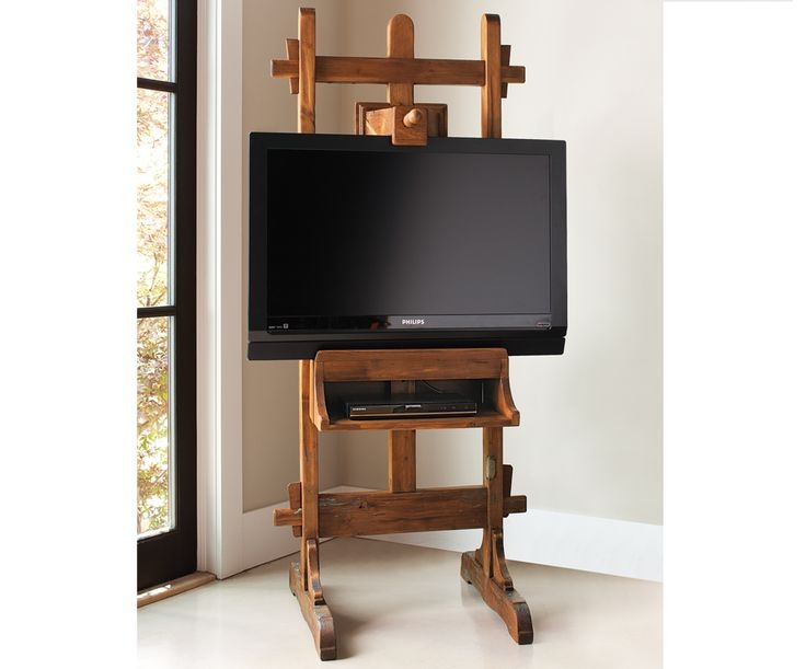 Awesome Series Of Easel TV Stands For Flat Screens Throughout 8 Best What To Do With Tv Images On Pinterest Easels Flat (View 3 of 50)