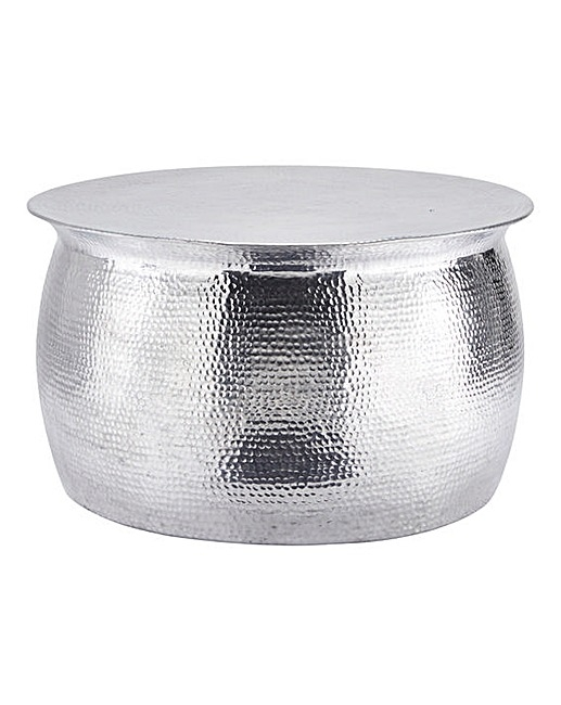 Awesome Series Of Hammered Silver Coffee Tables Inside Artisan Hammered Metal Coffee Table Home Beauty Gift Shop (Image 10 of 50)