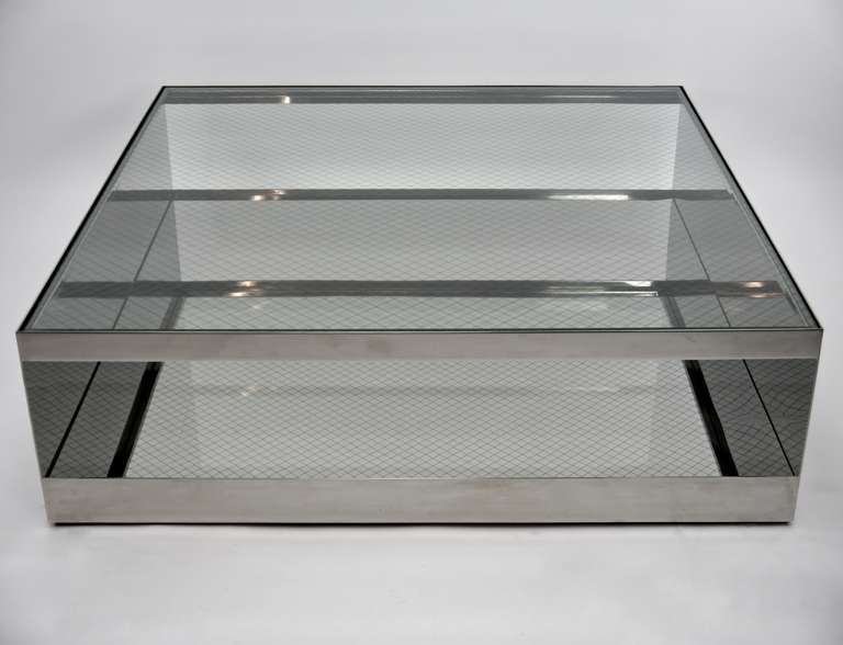 Awesome Series Of Large Square Glass Coffee Tables Throughout Large Glass Coffee Table (Image 7 of 50)