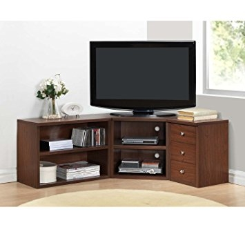 Awesome Series Of Oak TV Stands For Flat Screen Pertaining To Amazon Corner Tv Stands For Flat Screens Oak Finish With (Image 8 of 50)