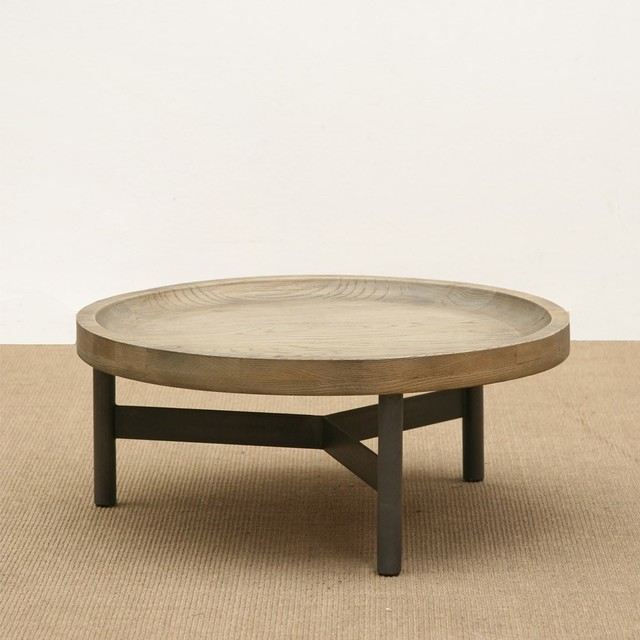 Awesome Series Of Round Oak Coffee Tables Regarding Coffee Table Brucs Big Round Oak Side Table Big Round Coffee (Image 10 of 40)