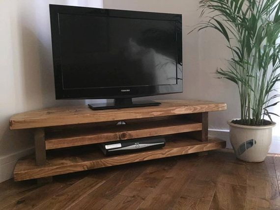 Awesome Series Of Rustic Oak TV Stands Regarding Best 10 Unique Tv Stands Ideas On Pinterest Studio Apartment (Image 2 of 50)