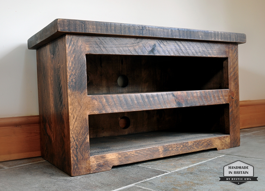 Awesome Series Of Rustic Oak TV Stands Within Wooden Tv Stands Uk Sauder Beginnings Corner Tv Stand Dark Wood (View 43 of 50)