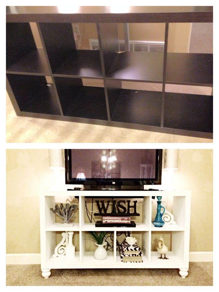 Awesome Series Of TV Stands And Bookshelf Pertaining To Best 25 Ikea Hack Tv Stand Ideas On Pinterest Console Ikea (Image 8 of 50)