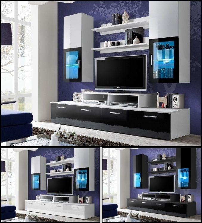 Awesome Series Of Wall Display Units & TV Cabinets Inside Details About Living Room Wall Display Unit Tv Cabinet Tv Stand (Image 9 of 50)