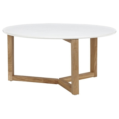 Awesome Series Of White And Oak Coffee Tables Pertaining To Coffee Table Round Oak Coffee Table White Color Qound Coffee (Image 7 of 50)