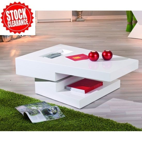 Awesome Series Of White Gloss Coffee Tables Pertaining To Best 25 White Gloss Coffee Table Ideas On Pinterest Table Tops (Image 7 of 50)