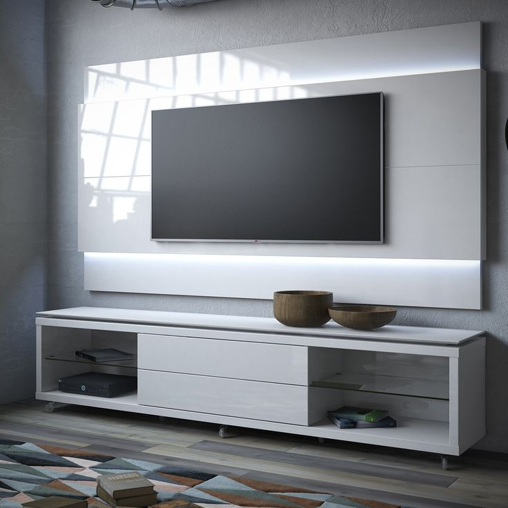Awesome Series Of White TV Stands For Flat Screens With Best 25 Floating Tv Stand Ideas On Pinterest Tv Wall Shelves (Image 11 of 50)