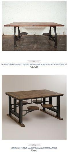 Awesome Table With Attached Swinging Stools – Found In Scotts For Dining Tables With Attached Stools (View 17 of 20)