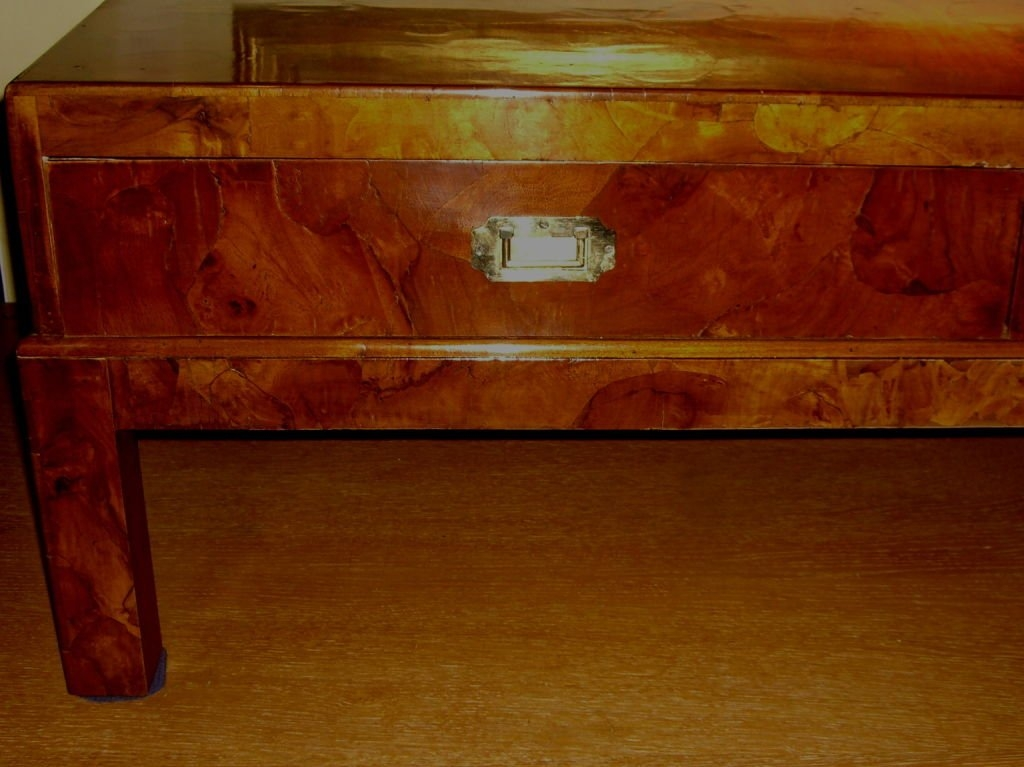 Awesome Top Campaign Coffee Tables In Carpathian Elm Burl Oriental Campaign Style Coffee Table At 1stdibs (Image 10 of 50)