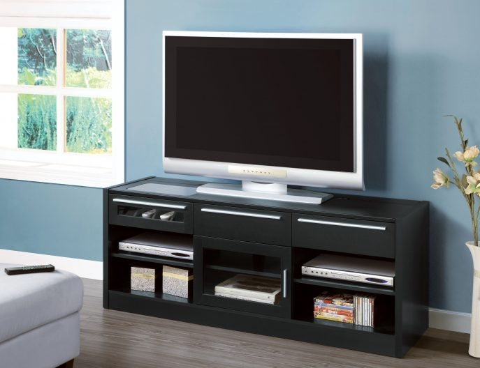 Awesome Top Enclosed TV Cabinets For Flat Screens With Doors In Living Room Furniture Venetian Pattern Enclosed Tv Cabinets Flat (Image 9 of 50)