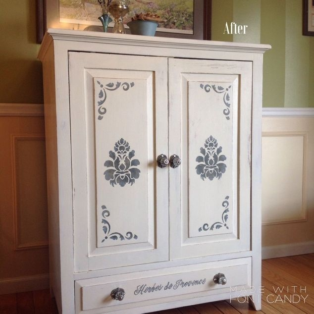 Awesome Top French Country TV Cabinets Regarding March 30dayflip Furniture Flip Challenge Arts And Classy (Photo 25 of 50)