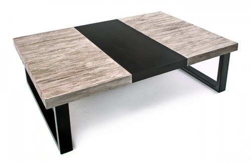 Awesome Top Gray Wood Coffee Tables In Urban Rustic Coffee Tables Live Edge Slab Wood Block Coffee (Image 6 of 50)