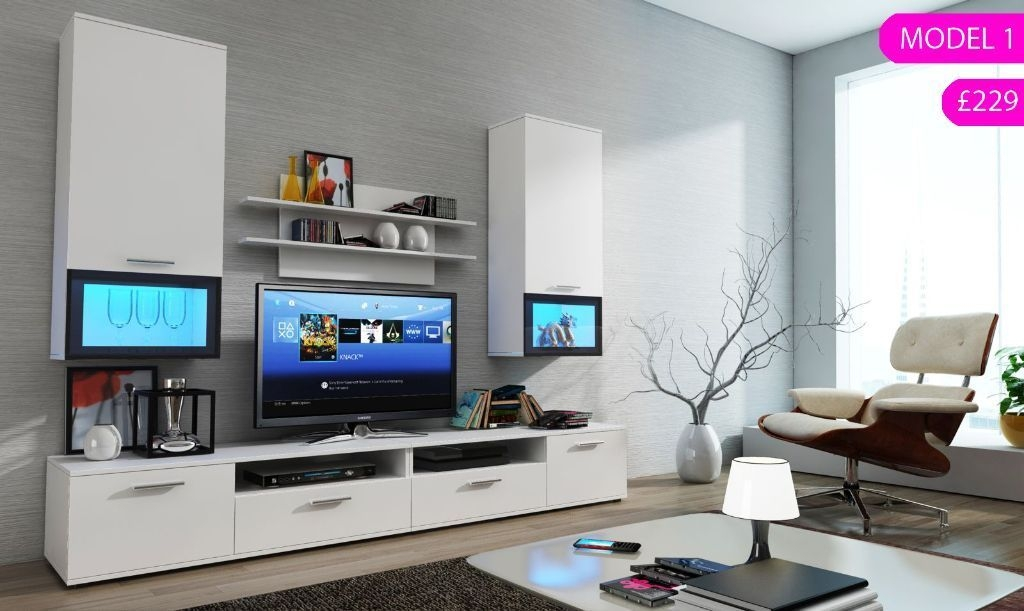 Awesome Top Led TV Cabinets With Led Tv Cabinet In Living Room Crowdbuild For (Image 9 of 50)