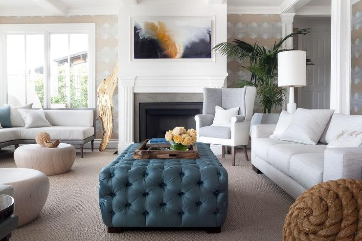 Awesome Top Leopard Ottoman Coffee Tables Regarding Gray Ottoman Coffee Table Design Ideas (Image 5 of 40)