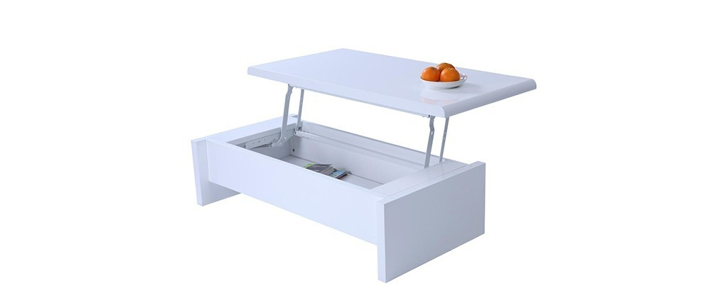 Awesome Top Logan Lift Top Coffee Tables In White Modern Lift Top Coffee Table With Storage Lola Miliboo (Image 6 of 50)