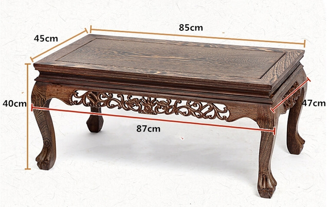 Awesome Top Long Coffee Tables Intended For Solid Wood Coffee Table Decoration Rectangle 85cm Long Living Room (View 27 of 50)