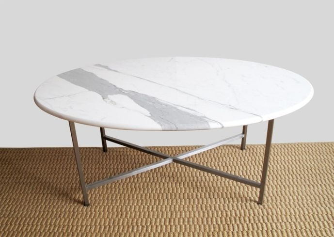 Awesome Top Oval White Coffee Tables Throughout Round White Coffee Table Use Arrow Keys To View More Tables Swipe (Image 8 of 50)