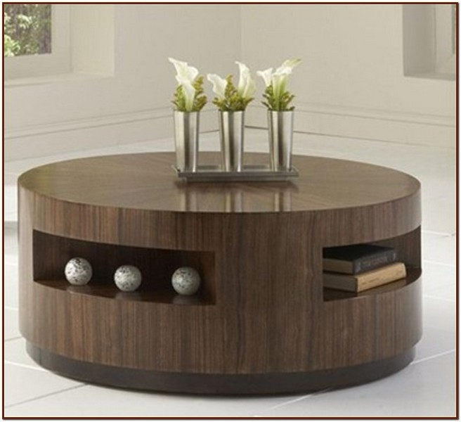 Awesome Top Round Coffee Table Storages For Round Coffee Table With Storage For Coffee Lovers (Image 9 of 50)