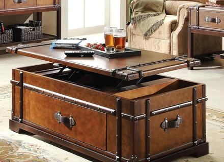 Awesome Top Steamer Trunk Stainless Steel Coffee Tables Intended For Steamer Trunk Coffee Table Stainless Steel Home Design And Decor (Image 5 of 50)