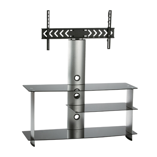 Awesome Top Swivel Black Glass TV Stands For Plasma Lcd Mount Black Glass Tv Stand Cantilever Swivel Stand (Photo 12 of 50)