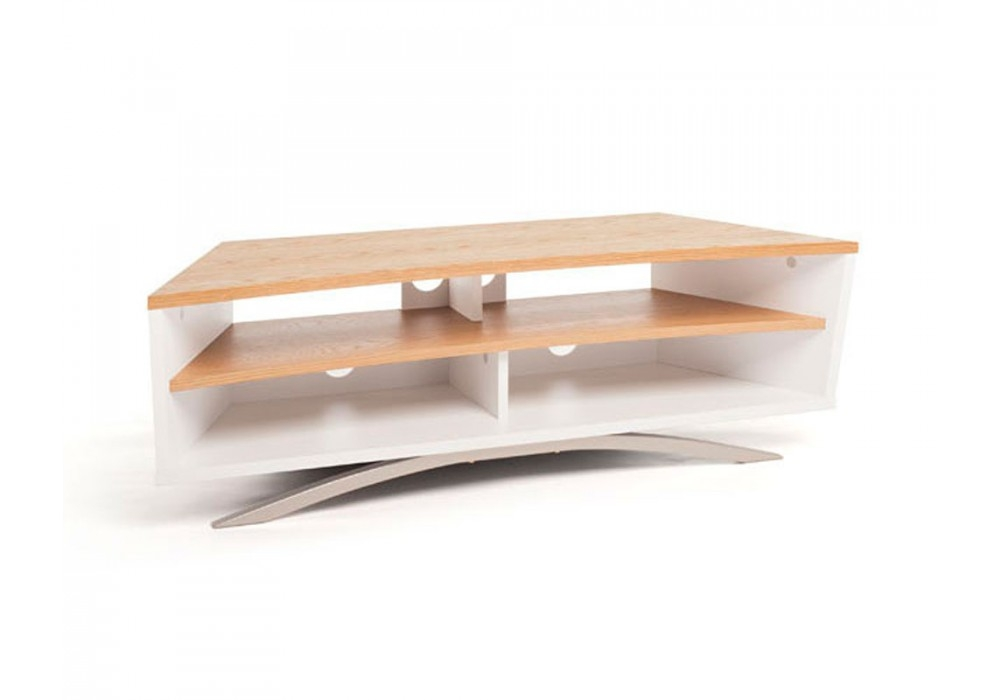 Awesome Top Techlink TV Stands With Techlink Pr130swlo Prisma Satin White Light Oak Tv Stand (Image 9 of 50)