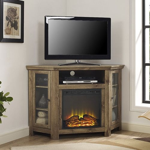 Awesome Top Wayfair Corner TV Stands Intended For Found It At Wayfairca Corner Tv Stand With Electric Fireplace (View 18 of 50)